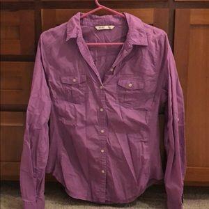 Lavender button up blouse